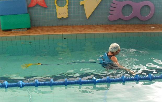 Eu atleta - Hidroterapia com cinturão e paraquedas (Foto: Hidrovida / Divulgação)