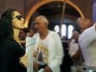 Lu Alckmin chega à Basílica após peregrinação por Rota da Luz