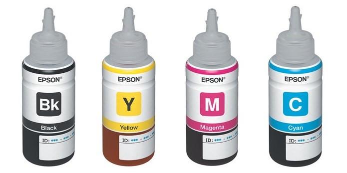 Refis de tinta Epson 664, o usado na L355 (Foto: Divulgação)