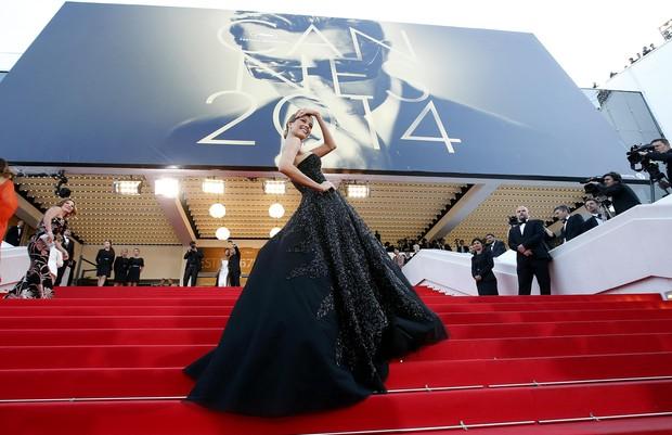 Petra Nemcova no Festival de Cannes (Foto: Reuters)