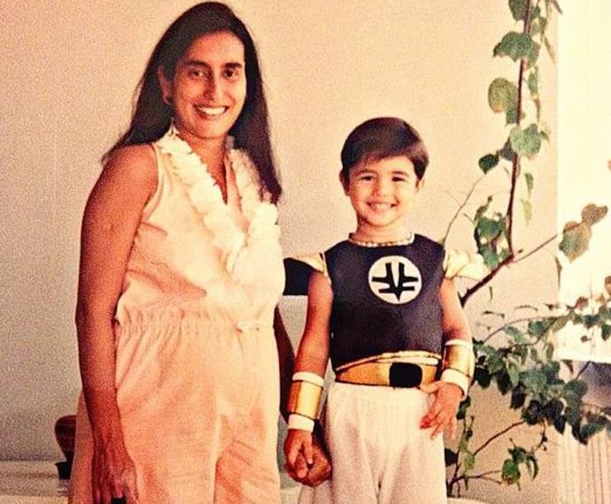 Gabriel sempre contou com o apoio da mãe (Foto: Arquivo pessoal)