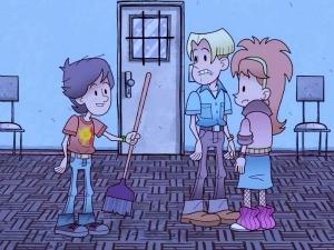 Animação remete aos anos 1980 (Foto: Reprodução, RBS TV)