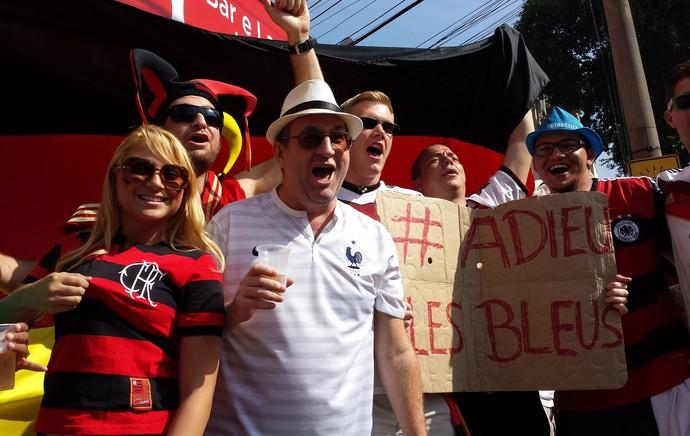 torcedores Flamengo Alemanha (Foto: Alexandre Alliatti)