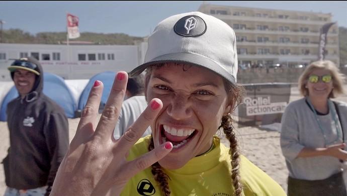 Isabela Sousa, campeã mundial de bodyboard Sintra Portugal (Foto: Lima Jr./Divulgação)