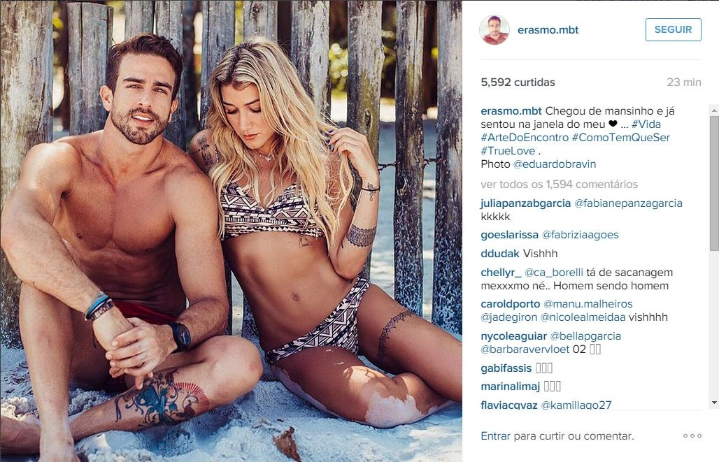 Gabriela Pugliesi ganha declaração de Erasmo nas redes sociais