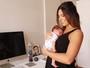 Rubia Baricelli sobre maternidade: 'Nunca amadureci tanto na vida'