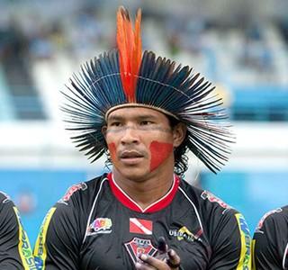 Aru no jogo Gavião Kyikate contra Paysandu CHAMDA (Foto: Reuters)