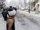 Hospital é destruído após ataque do regime sírio em Aleppo