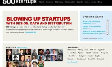 Site 500 startups (Foto: Reprodução)