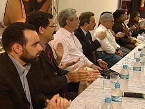 PT realizou encontro municipal em Uberaba (Foto: Reprodução/TV Integração)