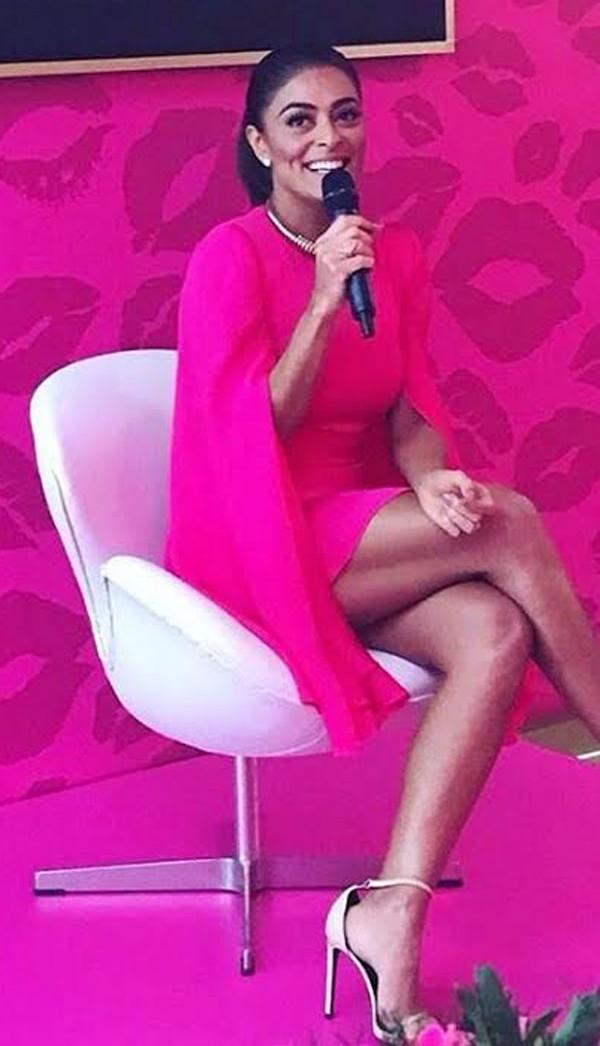 Juliana Paes fala de empoderamento em lançamento de seu perfume em São Paulo  (Foto: Maria Clara Póvia )