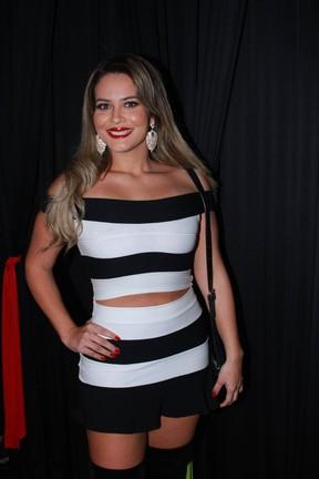 Geisy Arruda em festa em São Paulo (Foto: Raphael Castello/ Ag. News)