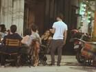 Daniel de Oliveira e Dira Paes jantam juntos no Rio