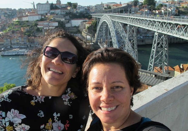 Taciana Mello e Fernanda Moura em Portugal (Foto: The Girls on the Road)