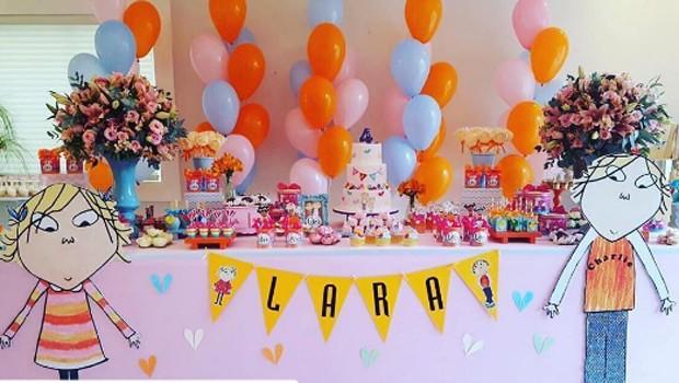 Detalhes da decoração do aniversário de Lara (Foto: Reprodução/Instagram)