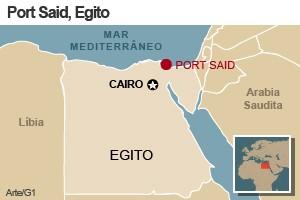 mapa briga egito (Foto: Arte G1)