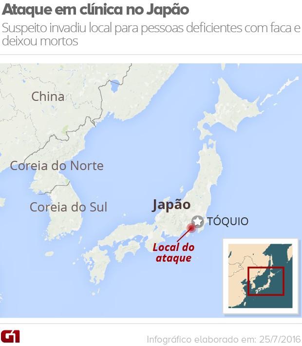 Mapa ataque Japão versão 2 (Foto: Editoria de Arte/G1)
