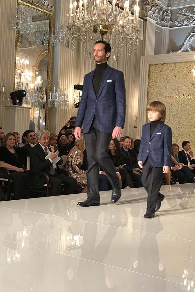 Father-and-son looks for A/W 2017 from Stefano Ricci (Foto: @SUZYMENKESVOGUE)