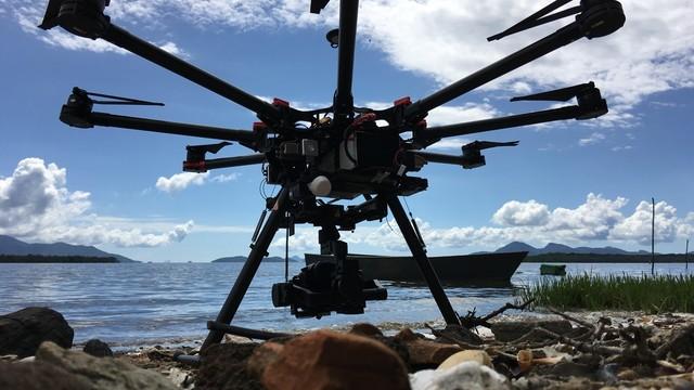 Drone  foi utilzado na produção das imagens  (Foto: Everton Isidro/ Divulgacão)