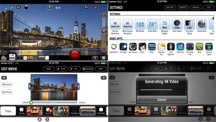 App permite criar, editar e publicar vídeos em 4K (Foto: Divulgação)