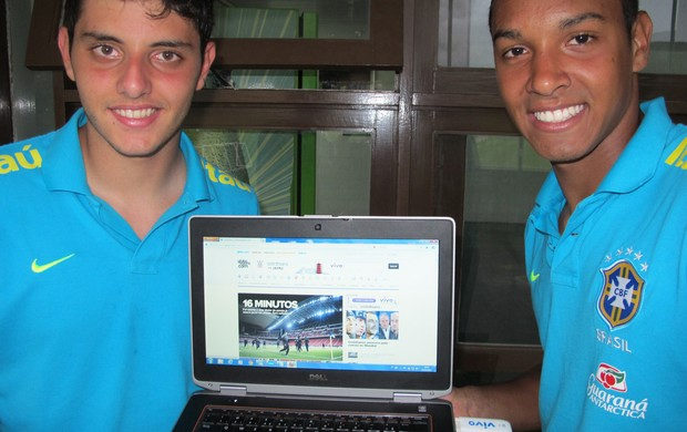Matheus e Antônio Carlos Sub-20 (Foto: Marcelo Baltar / Globoesporte.com)