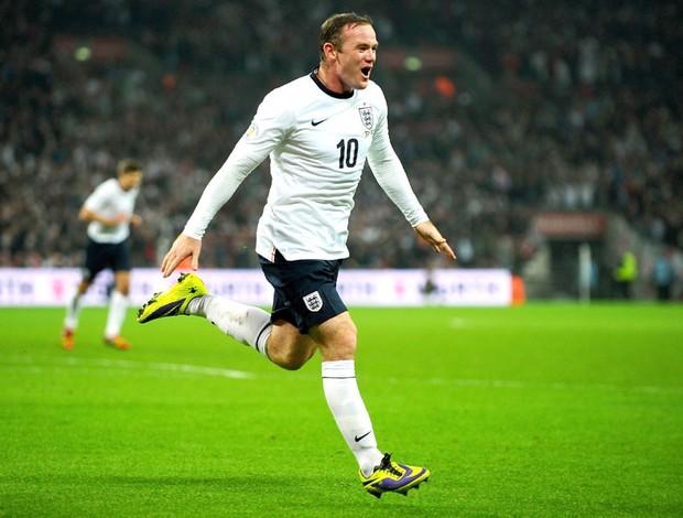 Rooney comemora gol da Inglaterra contra a Polônia (Foto: Getty Images)