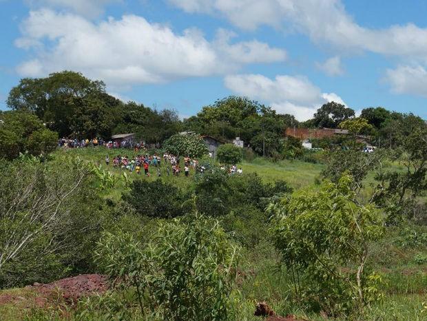 Local onde corpo da criança foi encontrado (Foto: Divulgação/ PC)