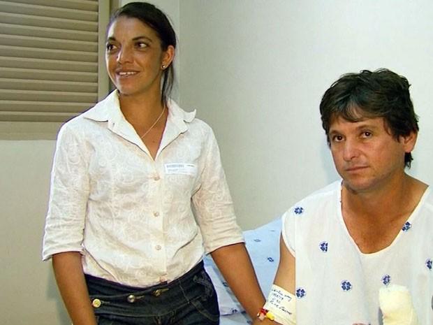 Hospital de Passos (MG) realiza primeira cirurgia de reimplante de polegar (Foto: Reprodução EPTV / Luciano Tolentino)