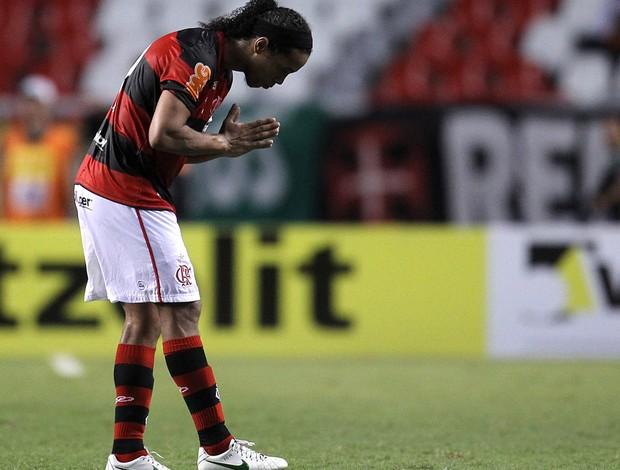 Ronaldinho gol Flamengo (Foto: Alexandre Cassiano / Agência O Globo)