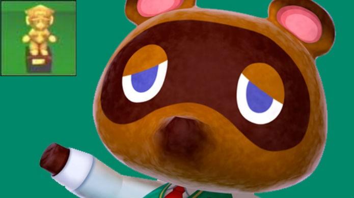 Mario é um troféu vendido por Tom Nook em Animal Crossing (Foto: Reprodução / Thomas Schulze)