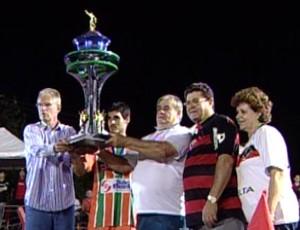 Águia Negra é campeão do Campeonato Sul-mato-grossense 2012 (Foto: Reprodução/TV Morena)