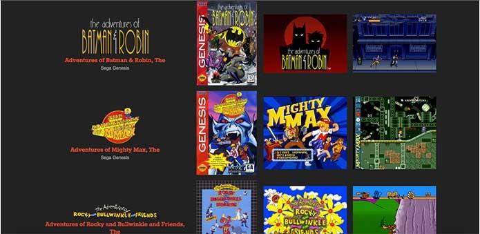 O menu é bagunçado, mas te permite olhar jogo por jogo  de Mega (Foto: Reprodução/Felipe Vinha)