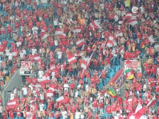 Colorados são 1,5 mil na Arena (Foto: Tomás Hammes/Globoesporte.com)