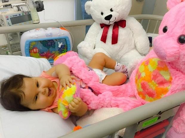 Sofia será submetida a cirurgia para o transplante de seis órgãos (Foto: Divulgação/ Campanha 'Ajude a Sofia´)