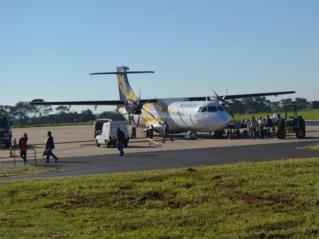 Reestruturação há dois anos fez Passaredo perder 25% dos voos que decolavam do Leite Lopes (Foto: Adriano Oliveira/G1)