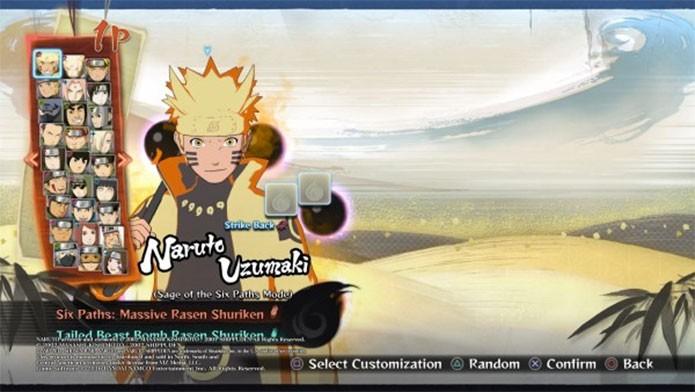 Desbloqueando um dos modos do Naruto