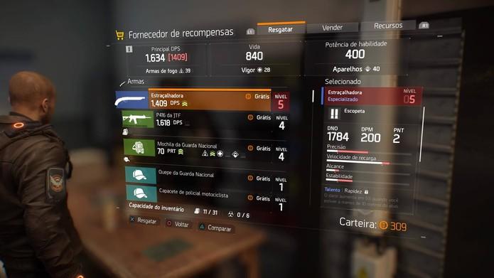 Colete as recompensas na base da Division (Foto: Reprodução/Felipe Vinha)