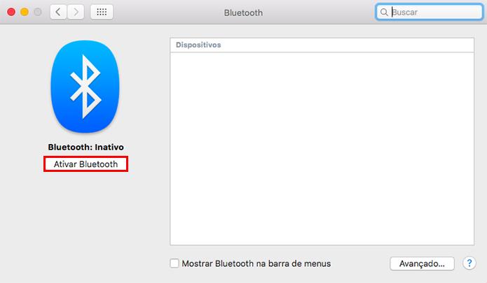 Ative o Bluetooth no Mac (Foto: Reprodução/Paulo Alves)