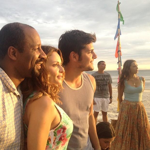 Atilron Graça, Rita Guedes e Bruno Gissoni (Foto: Instagram / Reprodução)