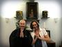 Aline Lima e Pedro Leonardo visitam colônia suiça em Indaiatuba