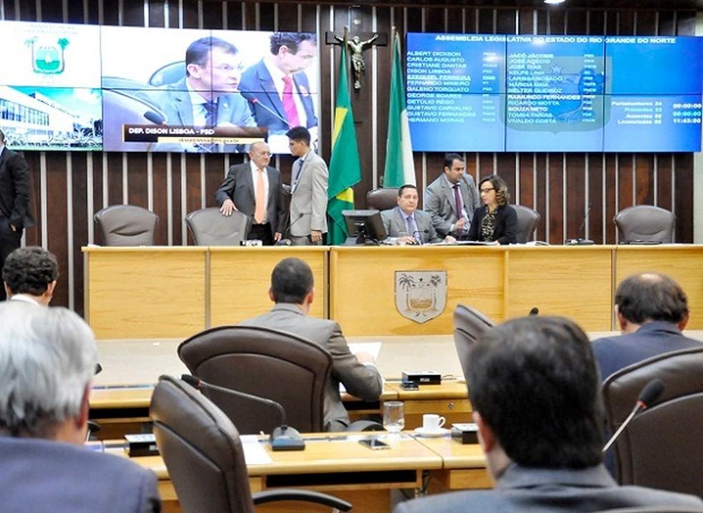 Sessão da Assembleia Legislativa do Rio Grande do Norte (Foto: Eduardo Maia/ALRN)