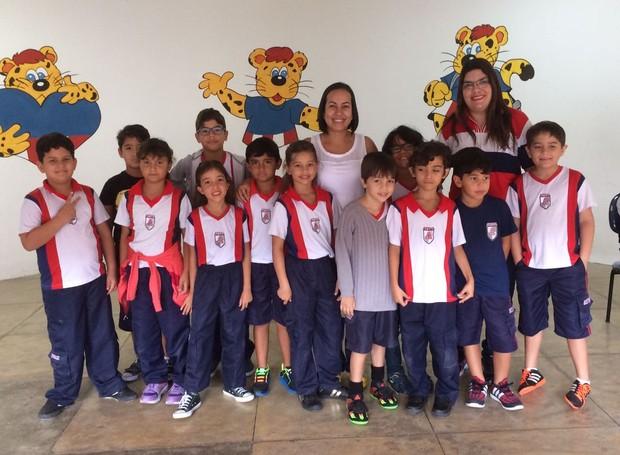 Apresentadora do ABTV 1ª Edição foi escolhida para bater um papo com estudantes da educação infantil (Foto: Fotos: Lia Gonçalves)