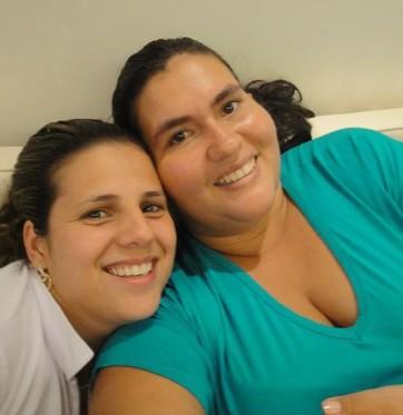 As cunhadas Patrícia e Marcela (Foto: arquivo pessoal)