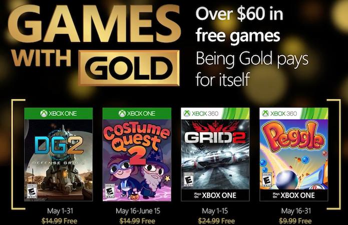 Games With Gold trará Grid 2 e Costume Quest 2 em maio (Foto: Reprodução/majornelson.com)