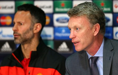 Coletiva Manchester United Ryan Giggs e David Moyes (Foto: Getty Images)