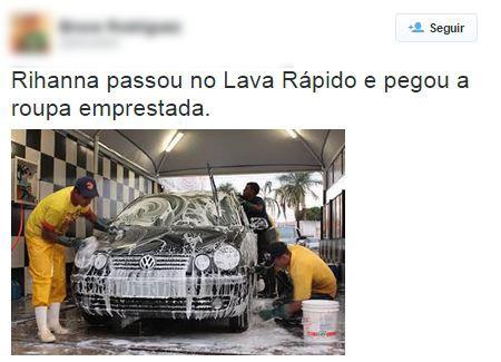 Meme da roupa de Rihanna no Rock in Rio (Foto: Reprodução / Twitter)