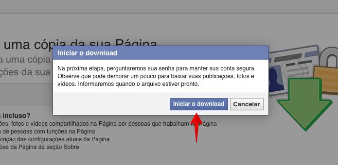 Solicitando o download do arquivo da página (Foto: Reprodução/Helito Bijora)