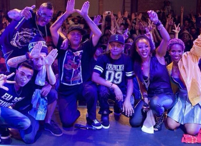 Negra Li em show com o RZO (Foto: Arquivo Pessoal)