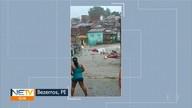 Chuva causa transtornos em Bezerros, no Agreste de PE
