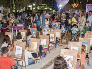 Arte na Praça é uma das atrações para as crianças neste fim de semana  (Foto: Ariel Gomes/ Governo do Ceará)